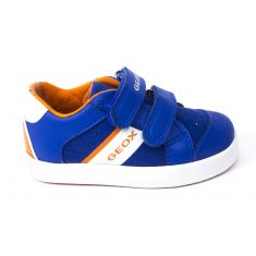 Geox Sneakers garçon bleu roi GISLI à scratchs