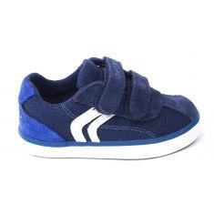 Geox Sneakers garçon bleu marine KILWI à scratchs