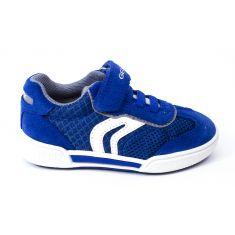 Geox Sneakers cuir POSEIDO garçon royal bleu