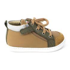 Boots garçon Shoo Pom Bouba BI zip box COW camel