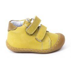 Bellamy Boots bébé garçon 1er pas souple jaune à scratch ELTON