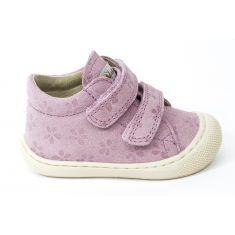 Naturino COCOON Chaussures bébé premiers pas souple fille en velours motif fleur
