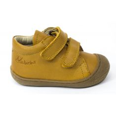 Naturino COCOON jaune maïs Chaussures bébé à scratch 1er pas souple garçon en cuir