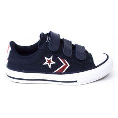 Converse Sneakers bas STAR PLAY OX 3V marine à scratchs