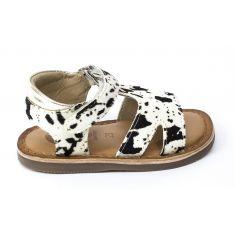 GIOSEPPO Sandales fille cuir motif vache ROSEVILLE 59636