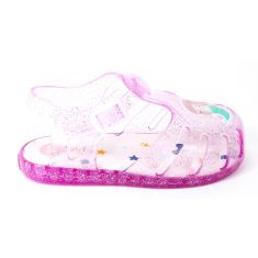 Sandales de plage fille  attache pression rose sirène MERAN 59209