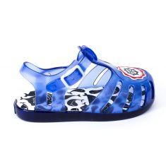 Sandales de plage plastique garçon fermeture pression bleu DAVIE 59205
