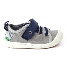 Sneakers garçon bas Kickers ZHOU gris