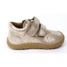Froddo Boots cuir à scratchs fille doré - Chaussant fin 1er pas bébé fille