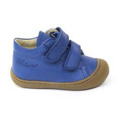 Naturino COCOON Chaussures bébé premiers pas souple garçon bleu céleste à scratch en cuir