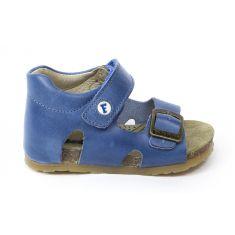 FALCOTTO Naturino sandales bébé bleu à scratch premiers pas garçon en cuir