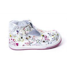 Bellamy Boots ouvertes 1er pas souple à boucle bébé fille DANET Lito fleuri