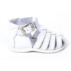 Bellamy Sandales 1er pas blanches à boucle bébé fille DAX
