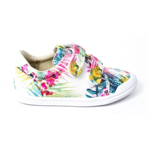 10 IS Basket TEN FIT V2 imprimé fleurs tropicales à scratchs