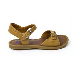Sandales fille SHOOPOM à boucle camel SOLAR BI BUCKLE CROSS NUTS