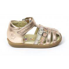 Sandales fille fermées devant SHOOPOM à scratch or PIKA SPART