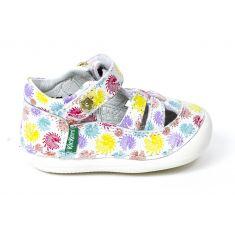 Kickers sandales/salomé 1er pas SUSHY imprimé fleurs