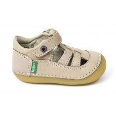 Kickers sandales/salomé 1er pas SUSHY beige