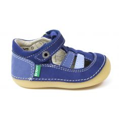 Kickers sandales/salomé 1er pas SUSHY bleu