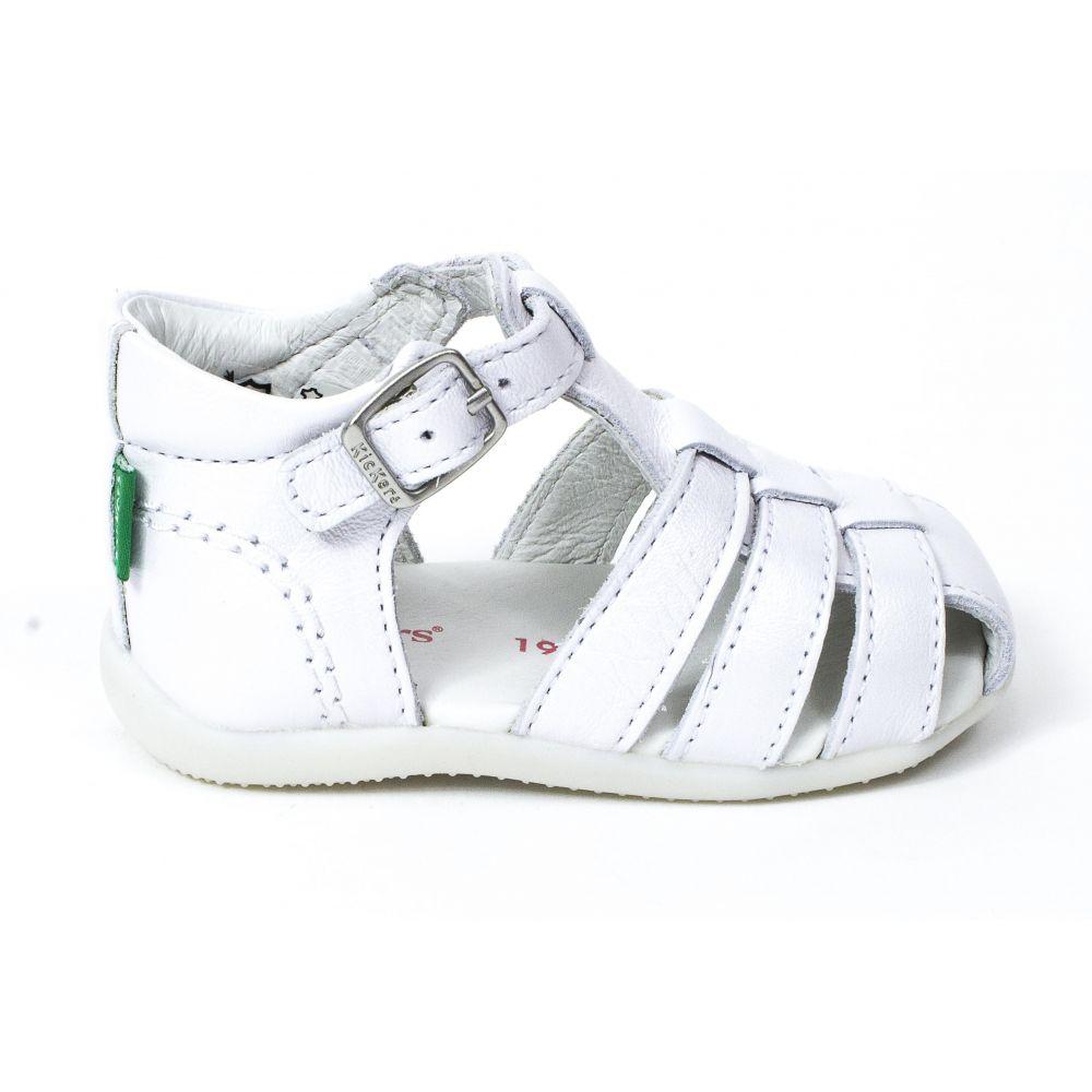 Kickers sandale bout fermé BIGFLY2 blanc metallisé