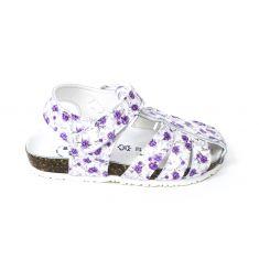 BIONATURA Sandales fille motif fleur semelle intérieure cuir ILARIA violet