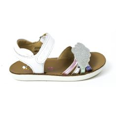 Sandales fille SHOO POM GOA MULTI  blanc motif nuage
