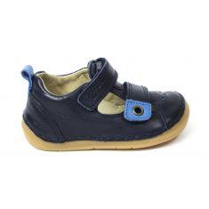 Froddo - Sandales cuir garçon bleu marine  à scratchs