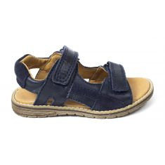 Froddo - Sandales G3150172 cuir garçon bleu marine  à scratchs