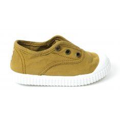 Sneakers à elastique jaune moutarde  Victoria 106627