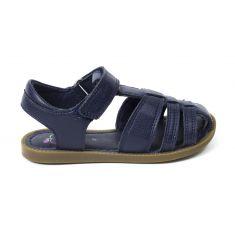 Sandales SHOO POM SOLAR TONTON à scratch bleu marine