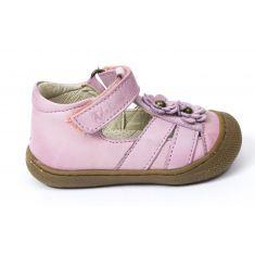 Naturino COCOON MAGGY rose Chaussures bébé ouvertes premiers pas souple fille en cuir