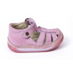 FALCOTTO LAGUNA rose Chaussures bébé ouvertes premiers pas souple fille en cuir