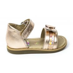 Sandales SHOO POM à scratch or TITY KNOT maintien avec contrefort
