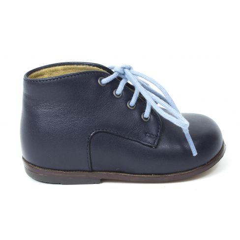 Bottines Clotaire ZEUS DERBY bleues à lacets pour garçons