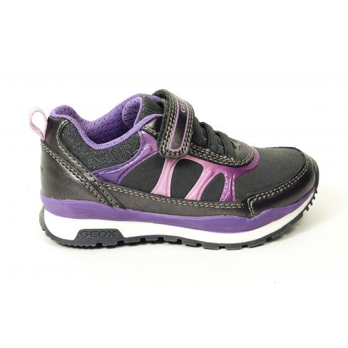 Geox Baskets Sneakers J PAVEL fille à scratch gris/violet