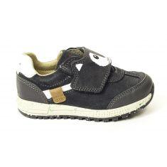 GEOX Sneakers Baskets B ALBEN gris foncé à scratch