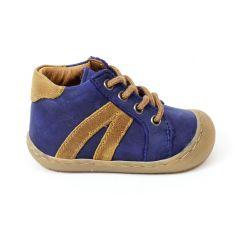 Bellamy bottines souples garçon RUDI bleues à lacets