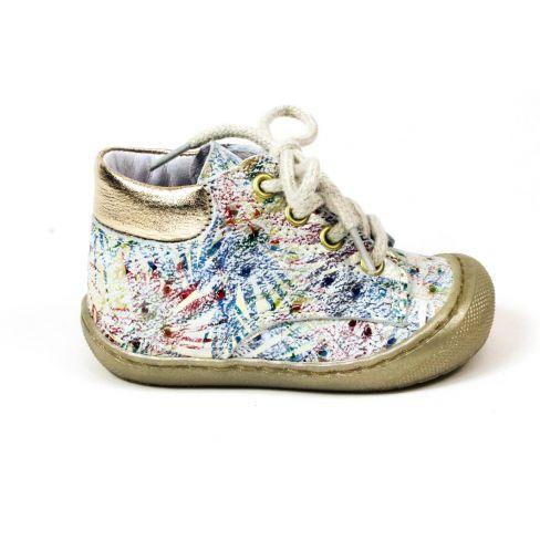 Bottines fille Bellamy Ecri multicolores à lacets