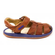 Camper sandales garçon Mattress-Miel marron à scratch