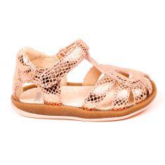 Camper sandales fille Abeja-Marian dorées à scratch