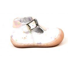 Bellamy sandales fille sandy blanches PAPILLON à boucle