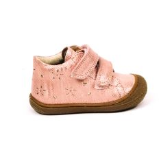 NATURINO bottines fille FATE VL SUEDE rose à scratchs