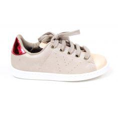 Sneakers beige à lacets argent Victoria 1125235