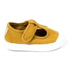 Victoria sandales garçon en toile ORO couleur or avec scratch