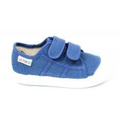 Baskets pour garçon VICTORIA JEANS bleues à scratchs
