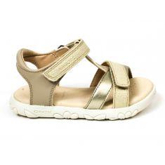 Sandales fille Geox HAITI dorées à scratch