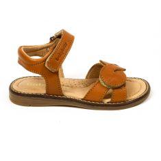 Sandales Babybotte tendance camel en cuir pour fille NARCISO à scratchs