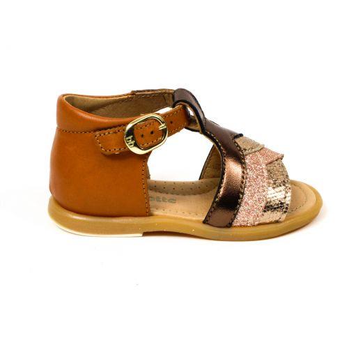BABYBOTTE Sandales camel bronze or glitter à  CISO