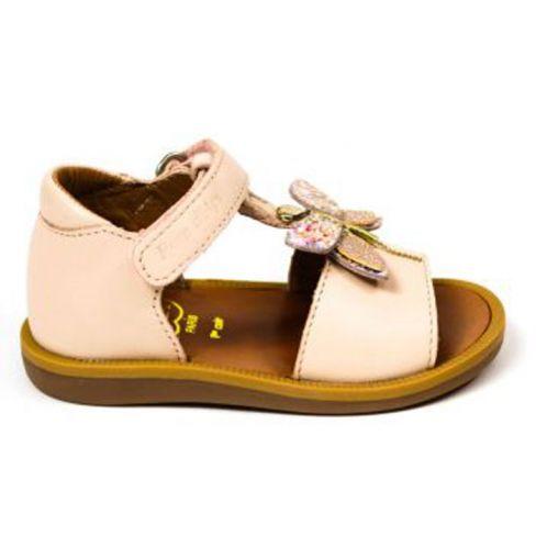 Pom d'Api sandales fille Poppy Bella beiges à scratch