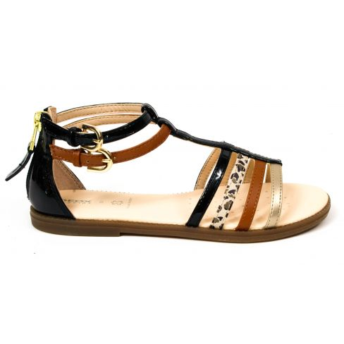 GEOX sandales fille noires KARLY à boucles